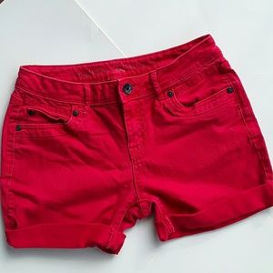 Vera Wang Simply Vera Red Denim Shorts,  4